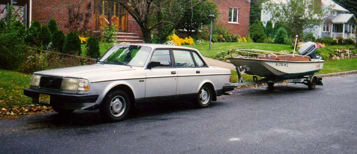 A 1986 Volvo 240DL. It was a nice car, kinda.